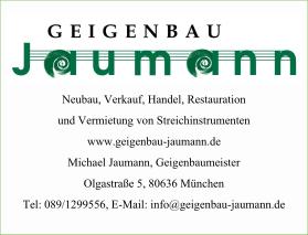 Geigenbau Jaumann München